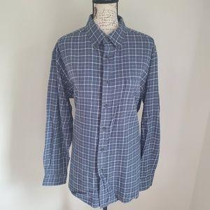 Croft & borrow plaid long sleeve shirt